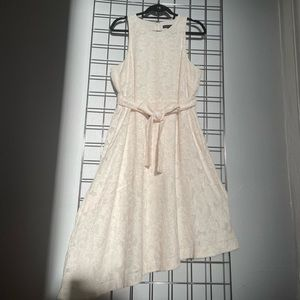 Banana Republic cream asymmetrical dress